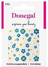 Perfumería y cosmética Pegatinas decorativas para uñas, 3702 - Donegal