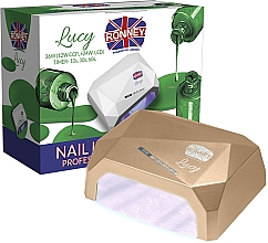 Perfumería y cosmética Lámpara CCFL+LED para manicura, dorada - Ronney Profesional Lucy CCFL + LED 36W (GY-LCL-021) Lamp