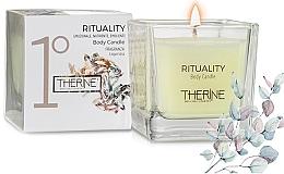 Perfumería y cosmética Vela de masaje corporal con aceite de argán y oliva - Therine Rituality Body Candle