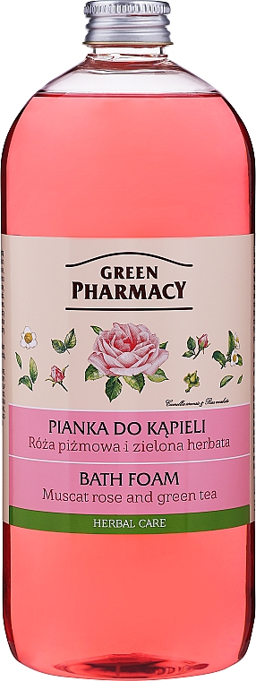 Espuma de baño con rosa mosqueta y té verde - Green Pharmacy