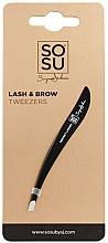 Perfumería y cosmética Pinza para cejas, punta puntiaguda e inclinación en ángulo - Sosu by SJ Lash And Brow Tweezers