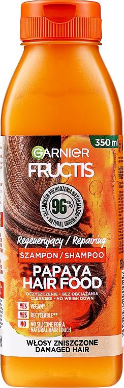 Champú reparador con extracto de papaya - Garnier Fructis Repairing Papaya Hair Food Shampoo