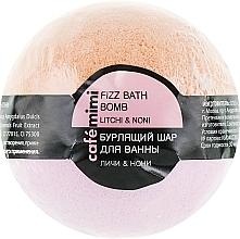 Perfumería y cosmética Bomba de baño efervescente con litchi y noni - Cafe Mimi Bubble Ball Bath