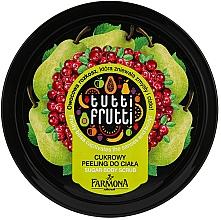Perfumería y cosmética Exfoliante corporal a base de azúcar con extracto de pera y arándano rojo - Farmona Tutti Frutti Sugar Scrub