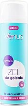Perfumería y cosmética Gel de afeitar con extracto de aloe y vitamina E - Venus Aloe Vera Gel