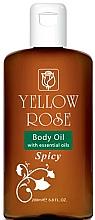 Perfumería y cosmética Aceite corporal con aceites esenciales de jengibre, clavo y zedoario - Yellow Rose Body Oil With Essential Oils Spicy