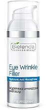 Perfumería y cosmética Rellenador de arrugas para contorno de ojos con ácido hialurónico - Bielenda Professional Program Eye Wrinkle Filler
