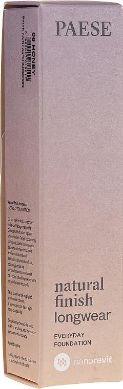 Base de maquillaje hidratante de alta cobertura y larga duración - Paese Natural Finish Longwear