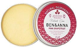 Perfumería y cosmética Desodorante natural crema, Pomelo rojo - Ben & Anna Pink Grapefruit Soda Cream Deodorant