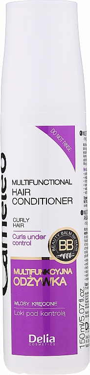 Acondicionador multifuncional con queratina para cabello rizado - Delia Cameleo Liquid Keratin Curly Hair