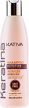 Perfumería y cosmética Champú a base de queratina con ácido cítrico sin sal - Kativa Keratina Shampoo