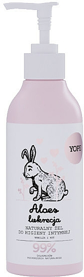 Gel natural de higiene íntima con aloe y extracto de regaliz - Yope