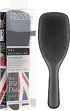 Perfumería y cosmética Cepillo desenredador de cabello mojado, negro - Tangle Teezer The Wet Detangler Black Gloss Large Size Hairbrush