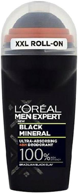 Desodorante roll-on con arcilla negra - L'Oreal Paris Men Expert Black Mineral Deo Roll-On