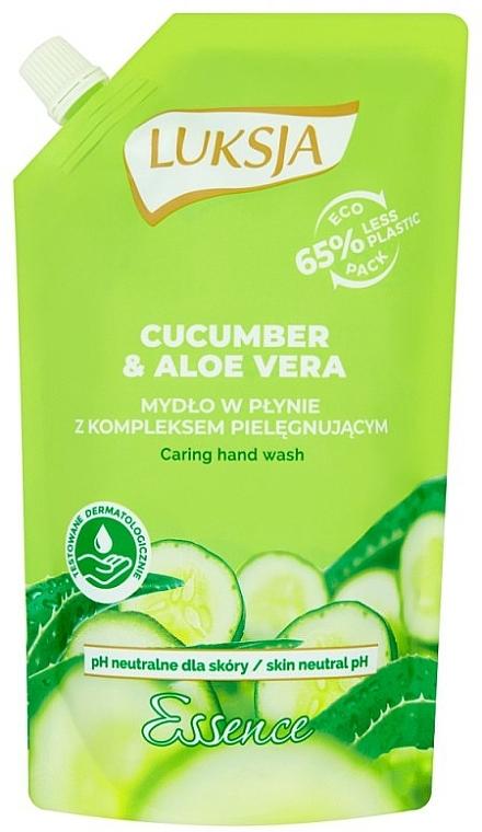 Jabón de manos con extracto de pipino y aloe vera - Luksja Cucumber & Aloe Soap (doypack)