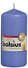 Perfumería y cosmética Vela cilíndrica, azul, 120/58 mm - Bolsius Candle