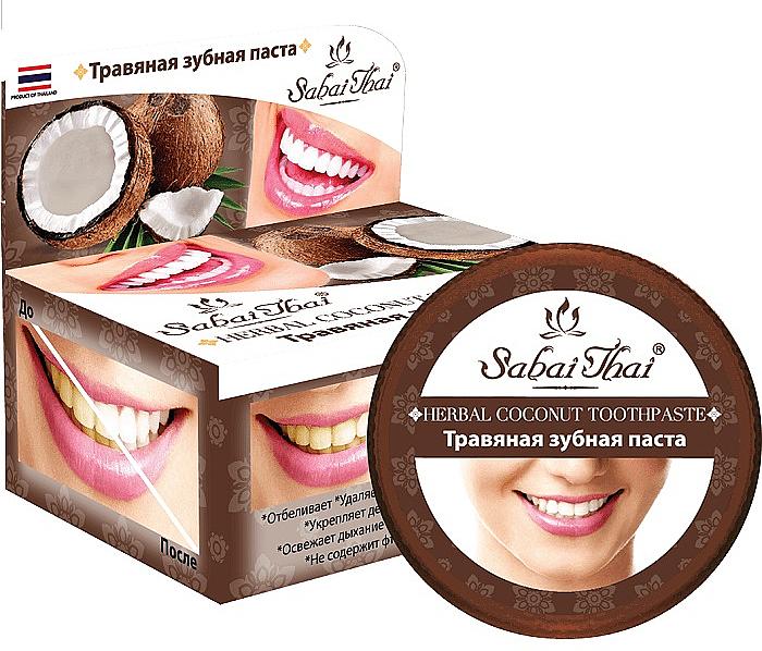 Pasta dental de coco a base de hierbas - Sabai Thai Herbal Coconut Toothpaste