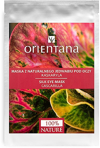 Mascarilla para contorno de ojos de tejido con colágeno y extracto de quina aromática - Orientana Eye Silk Pad Cascarilla