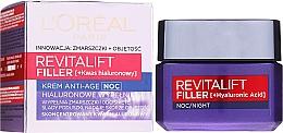 Perfumería y cosmética Crema de noche con concentrado de ácido hialurónico - L'Oreal Paris Revitalift Filler Hyaluronic Acid Night Cream