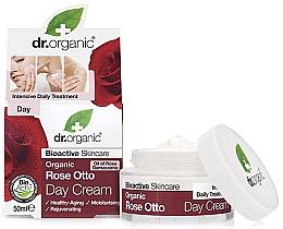 Perfumería y cosmética Crema facial rejuvenecedora con rosa damascena - Dr. Organic Bioactive Skincare Rose Otto Day Cream