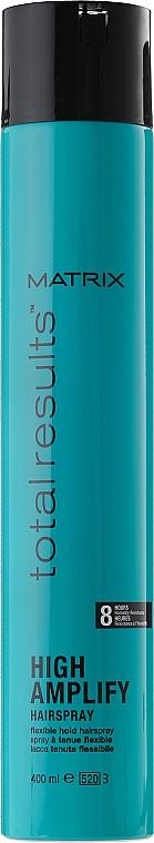 Laca antihumedad con pantenol, fijación fuerte flexible - Matrix Total Results High Amplify Hairspray