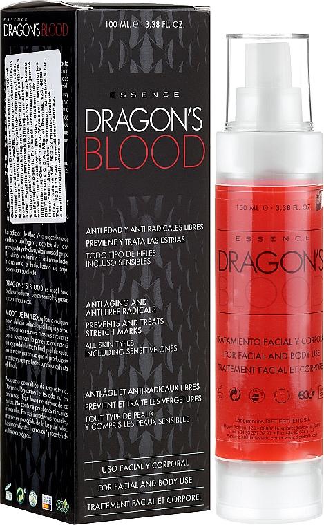 Esencia tratamiento para rostro y cuerpo con aloe vera antiedad y anti radicales libres - Diet Esthetic Dragon Blood Essence