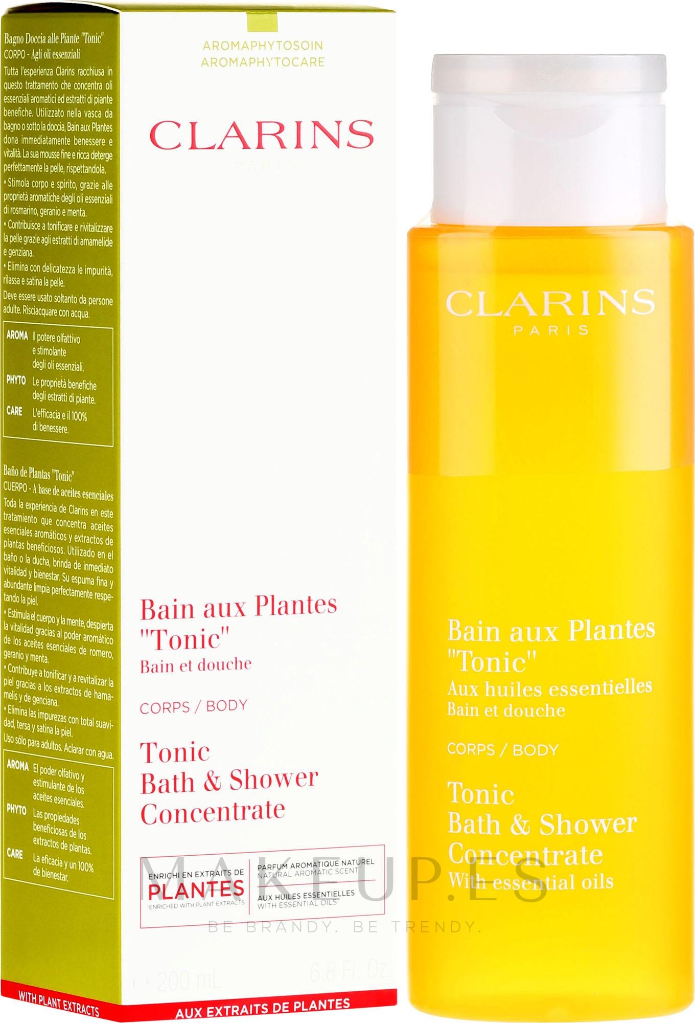 Espuma de baño con aceites esenciales - Clarins Tonic Bath & Shower Concentrate — imagen 200 ml
