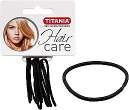 Perfumería y cosmética Gomas de pelo, color negro, 2mm, 9uds. - Titania