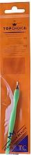 Perfumería y cosmética Cortacutículas con mango de plástico 7248, verde claro - Top Choice