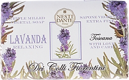 Perfumería y cosmética Jabón corporal artesanal con lavanda - Nesti Dante Dei Colli Fiorentini Soap