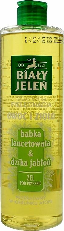 Gel de ducha con extracto de plantago y manzana silvestre - Bialy Jelen