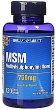 Perfumería y cosmética Complemento alimenticio en cápsulas de Metilsulfonilmetano, 750 mg, 120 cáp. - Holland & Barrett MSM 750mg