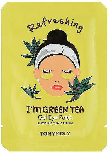 Parches de gel para contorno de ojos con té verde - Tony Moly Refreshing Im Green Tea Eye Mask