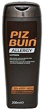 Perfumería y cosmética Loción protectora solar corporal para pieles sensibles al sol, SPF 50 - Piz Buin Allergy Sun Sensitive Skin Lotion SPF50