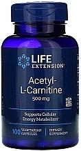 Perfumería y cosmética Complemento alimenticio de Acetil-L-Carnitina, 500 mg - Life Extension Acetyl-L-Carnitine, 500 mg
