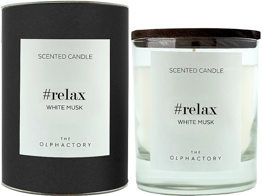 Vela aromática, almizcle blanco - Ambientair The Olphactory Relax White Musk Black Design
