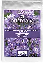 Perfumería y cosmética Mascarilla para contorno de ojos de tejido con extracto de romero - Orientana Eye Silk Pad Rosemary