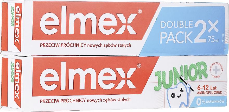 Pasta dental infantil con aminofluoruro y mentol suave - Elmex Junior Toothpaste (2uds. x 75ml)
