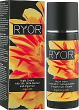 Perfumería y cosmética Crema de noche con proteínas de seda, β-glucano y aceite de argán - Ryor Night Cream With Silk, Beta-Glucan And Argan Oil