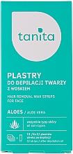 Perfumería y cosmética Bandas depilatorias de cera de aloe vera para el rostro - Tanita