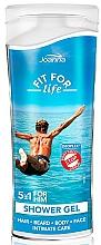 Perfumería y cosmética Champú gel de ducha con extracto de levadura - Joanna Fit For Life 5in1 Shower Gel For All Body Odour Stoper For Men (mini)