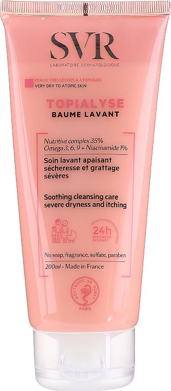Bálsamo nutritivo para rostro y cuerpo con niacinamidas, Omega 3,6 y 9 - SVR Topialyse Baume Lavant
