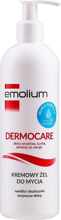 Crema de ducha con aceite de macadamia, manteca de karité - Emolium Dermocare Body Cleansing Creamy Gel — imagen N1
