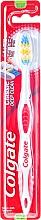 Perfumería y cosmética Cepillo dental medio, blanco-rojo - Colgate Classic Deep Clean