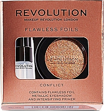Perfumería y cosmética Makeup Revolution Flawless Foils (sombra de ojos/2g + prebase para ojos/2ml) (Overcome) - Set