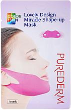 Perfumería y cosmética Mascarilla parche para barbilla con colágeno, péptidos y coenzima Q10 - Purederm Lovely Design Miracle Shape-up V-line Mask