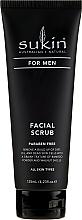 Perfumería y cosmética Exfoliante facial para hombres con bambú - Sukin For Men Facial Scrub