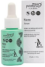 Perfumería y cosmética Sérum facial matificante con ácido hialurónico, extracto de arándanos - PuroBio Cosmetics Serum Balancing Matte Effect
