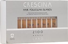 Perfumería y cosmética Tratamiento en ampollas estimulador del crecimiento de cabello para mujeres 2100 - Crescina Hair Follicular Island 2100 Woman