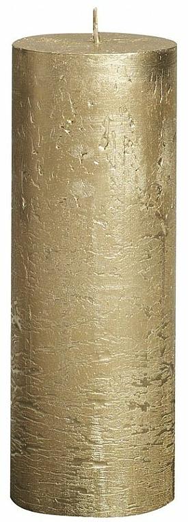 Vela cilíndrica, Metallic Gold, 190/68 mm - Bolsius Candle